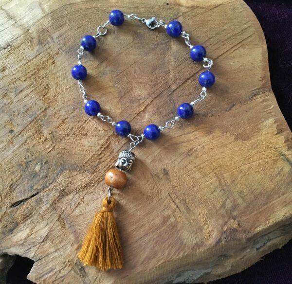 Bracelet Bouddha en lapis luzuli