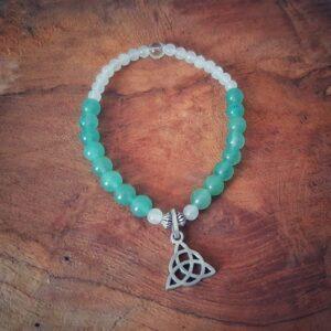 Bracelet Wicca en aventurine verte