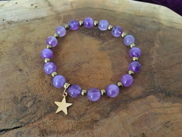 Bracelet améthyste étoile